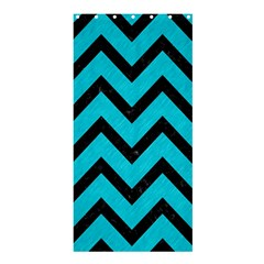 Chevron9 Black Marble & Turquoise Colored Pencil Shower Curtain 36  X 72  (stall)  by trendistuff