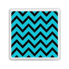 Chevron9 Black Marble & Turquoise Colored Pencil Memory Card Reader (square)  by trendistuff