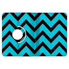 Chevron9 Black Marble & Turquoise Colored Pencil Kindle Fire Hdx Flip 360 Case by trendistuff