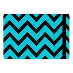 Chevron9 Black Marble & Turquoise Colored Pencil Apple Ipad Pro 10 5   Flip Case by trendistuff