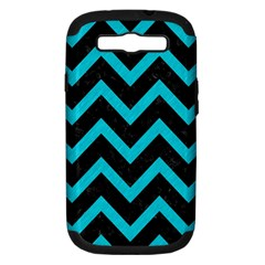 Chevron9 Black Marble & Turquoise Colored Pencil (r) Samsung Galaxy S Iii Hardshell Case (pc+silicone) by trendistuff