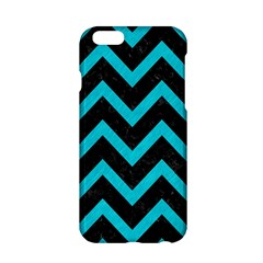Chevron9 Black Marble & Turquoise Colored Pencil (r) Apple Iphone 6/6s Hardshell Case