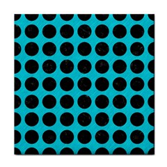 Circles1 Black Marble & Turquoise Colored Pencil Face Towel by trendistuff