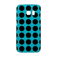 Circles1 Black Marble & Turquoise Colored Pencil Galaxy S6 Edge by trendistuff