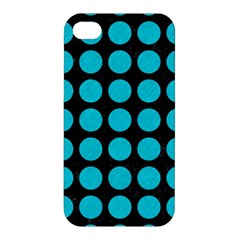 Circles1 Black Marble & Turquoise Colored Pencil (r) Apple Iphone 4/4s Hardshell Case by trendistuff