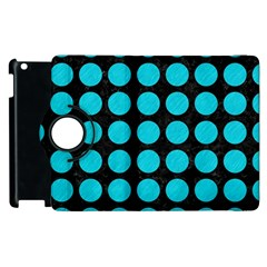 Circles1 Black Marble & Turquoise Colored Pencil (r) Apple Ipad 2 Flip 360 Case by trendistuff