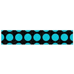 Circles1 Black Marble & Turquoise Colored Pencil (r) Small Velour Scarf by trendistuff