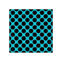 Circles2 Black Marble & Turquoise Colored Pencil Acrylic Tangram Puzzle (4  X 4 ) by trendistuff