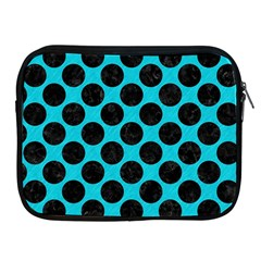 Circles2 Black Marble & Turquoise Colored Pencil Apple Ipad 2/3/4 Zipper Cases by trendistuff