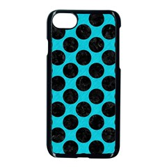 Circles2 Black Marble & Turquoise Colored Pencil Apple Iphone 7 Seamless Case (black) by trendistuff