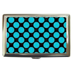 Circles2 Black Marble & Turquoise Colored Pencil (r) Cigarette Money Cases by trendistuff