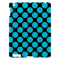Circles2 Black Marble & Turquoise Colored Pencil (r) Apple Ipad 3/4 Hardshell Case by trendistuff