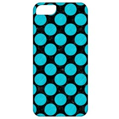 Circles2 Black Marble & Turquoise Colored Pencil (r) Apple Iphone 5 Classic Hardshell Case