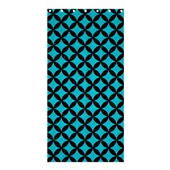 Circles3 Black Marble & Turquoise Colored Pencil Shower Curtain 36  X 72  (stall)  by trendistuff