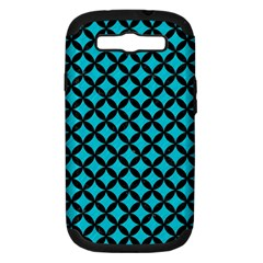 Circles3 Black Marble & Turquoise Colored Pencil Samsung Galaxy S Iii Hardshell Case (pc+silicone) by trendistuff