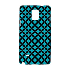 Circles3 Black Marble & Turquoise Colored Pencil Samsung Galaxy Note 4 Hardshell Case by trendistuff