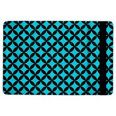 Circles3 Black Marble & Turquoise Colored Pencil Ipad Air 2 Flip by trendistuff
