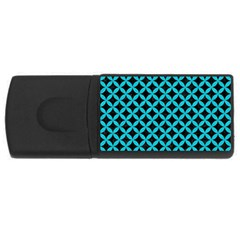 Circles3 Black Marble & Turquoise Colored Pencil (r) Rectangular Usb Flash Drive by trendistuff