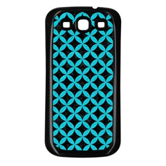 Circles3 Black Marble & Turquoise Colored Pencil (r) Samsung Galaxy S3 Back Case (black) by trendistuff