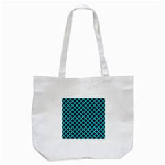 Circles3 Black Marble & Turquoise Colored Pencil (r) Tote Bag (white) by trendistuff
