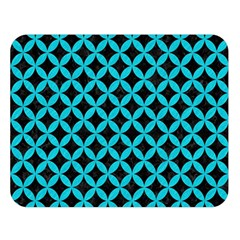 Circles3 Black Marble & Turquoise Colored Pencil (r) Double Sided Flano Blanket (large)  by trendistuff