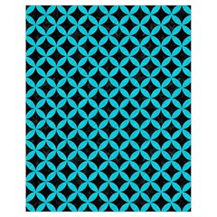 Circles3 Black Marble & Turquoise Colored Pencil (r) Drawstring Bag (small) by trendistuff