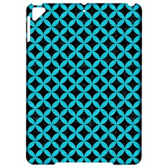 Circles3 Black Marble & Turquoise Colored Pencil (r) Apple Ipad Pro 9 7   Hardshell Case