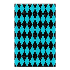 Diamond1 Black Marble & Turquoise Colored Pencil Shower Curtain 48  X 72  (small)  by trendistuff
