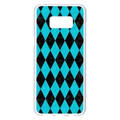 Diamond1 Black Marble & Turquoise Colored Pencil Samsung Galaxy S8 Plus White Seamless Case by trendistuff