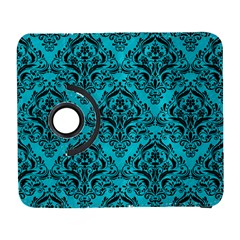 Damask1 Black Marble & Turquoise Colored Pencil Galaxy S3 (flip/folio) by trendistuff