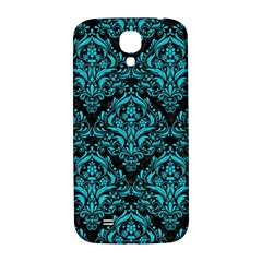 Damask1 Black Marble & Turquoise Colored Pencil (r) Samsung Galaxy S4 I9500/i9505  Hardshell Back Case by trendistuff