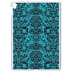 Damask2 Black Marble & Turquoise Colored Pencil Apple Ipad Pro 9 7   White Seamless Case by trendistuff