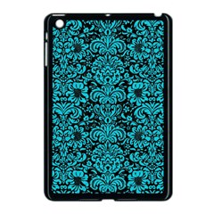 Damask2 Black Marble & Turquoise Colored Pencil (r) Apple Ipad Mini Case (black) by trendistuff