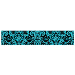 Damask2 Black Marble & Turquoise Colored Pencil (r) Small Velour Scarf by trendistuff