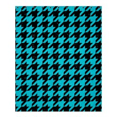 Houndstooth1 Black Marble & Turquoise Colored Pencil Shower Curtain 60  X 72  (medium)  by trendistuff
