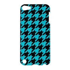 Houndstooth1 Black Marble & Turquoise Colored Pencil Apple Ipod Touch 5 Hardshell Case