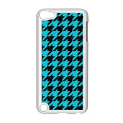 Houndstooth1 Black Marble & Turquoise Colored Pencil Apple Ipod Touch 5 Case (white)