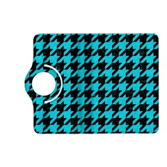 Houndstooth1 Black Marble & Turquoise Colored Pencil Kindle Fire Hd (2013) Flip 360 Case by trendistuff