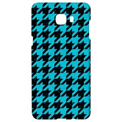 Houndstooth1 Black Marble & Turquoise Colored Pencil Samsung C9 Pro Hardshell Case  by trendistuff