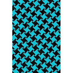 Houndstooth2 Black Marble & Turquoise Colored Pencil 5 5  X 8 5  Notebooks by trendistuff