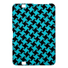 Houndstooth2 Black Marble & Turquoise Colored Pencil Kindle Fire Hd 8 9  by trendistuff