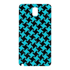 Houndstooth2 Black Marble & Turquoise Colored Pencil Samsung Galaxy Note 3 N9005 Hardshell Back Case by trendistuff