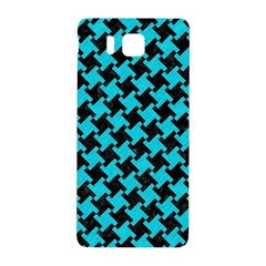 Houndstooth2 Black Marble & Turquoise Colored Pencil Samsung Galaxy Alpha Hardshell Back Case by trendistuff