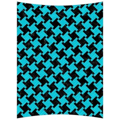 Houndstooth2 Black Marble & Turquoise Colored Pencil Back Support Cushion by trendistuff