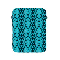 Hexagon1 Black Marble & Turquoise Colored Pencil Apple Ipad 2/3/4 Protective Soft Cases by trendistuff