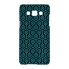 Hexagon1 Black Marble & Turquoise Colored Pencil (r) Samsung Galaxy A5 Hardshell Case  by trendistuff