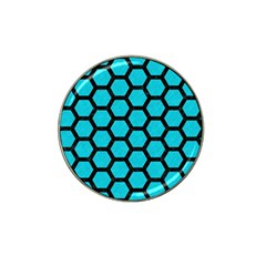 Hexagon2 Black Marble & Turquoise Colored Pencil Hat Clip Ball Marker (10 Pack) by trendistuff