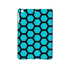Hexagon2 Black Marble & Turquoise Colored Pencil Ipad Mini 2 Hardshell Cases by trendistuff