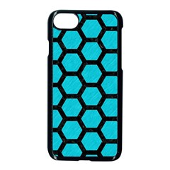 Hexagon2 Black Marble & Turquoise Colored Pencil Apple Iphone 7 Seamless Case (black) by trendistuff