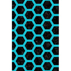 Hexagon2 Black Marble & Turquoise Colored Pencil (r) 5 5  X 8 5  Notebooks by trendistuff